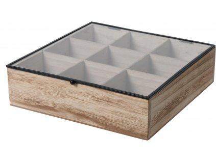 Organizer Teabox Wood 9 přihrádek