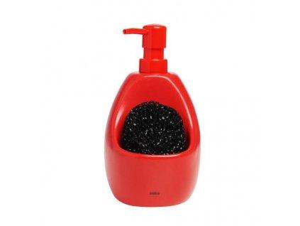 Dávkovač mycího prostředku na nádobí(mýdlo) JOEY červený