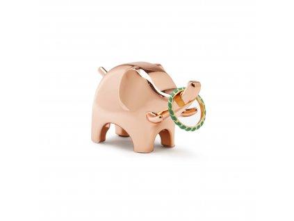 Věšák na bižuterie Anigram Slon měděný
