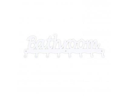 Věšák nástěnný Bathroom bílý