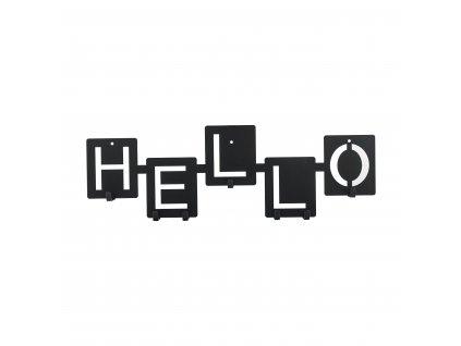 Věšák nástěnný Hello černý