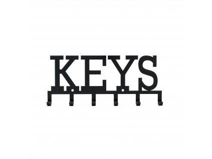 Věšák nástěnný Keys černý