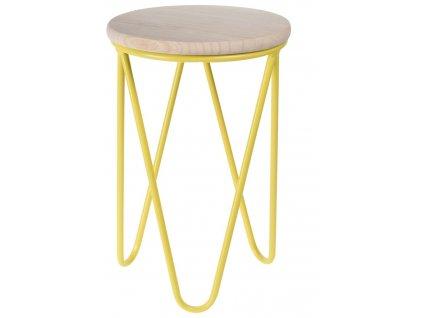 Stolička Lapsy žlutá