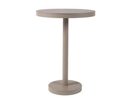 Stůl Barcino vysoký, kulatý 60cm základna centrální písková barva