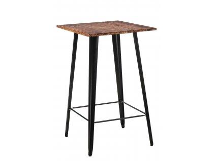 Stůl barový Paris Wood černý sosna