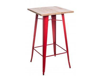 Stůl barový Paris Wood červený jasan