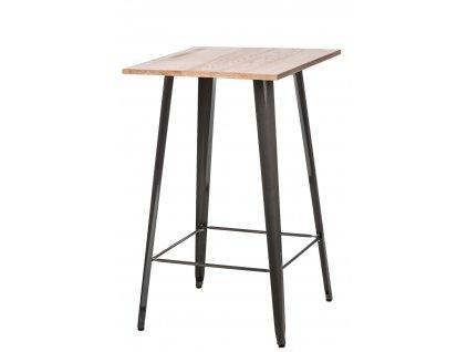 Stůl barový Paris Wood metalický jasan
