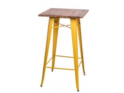 Stůl barový Paris Wood žlutý sosna