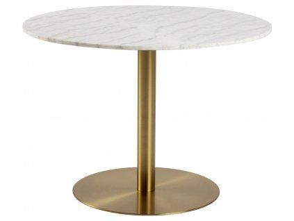 Stůl kulatý Corby mramor/zlatý