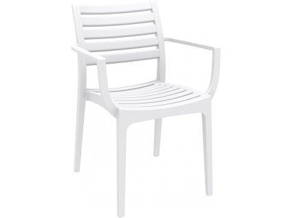 Židle Alma s područkami bílá