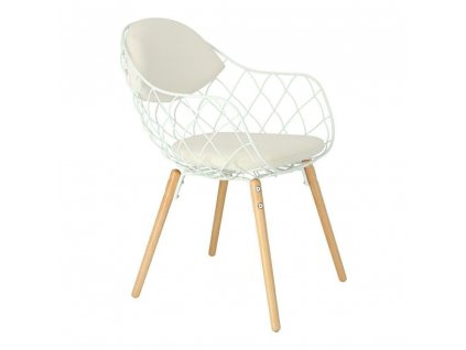 Židle Jahi bílá/bílá/přírodní