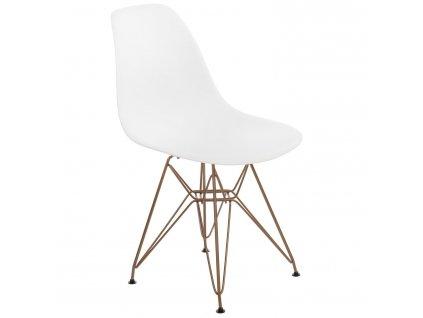 Židle P016 PP Gold bílá