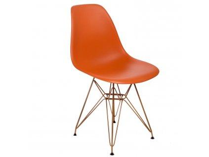 Židle P016 PP Gold oranžová