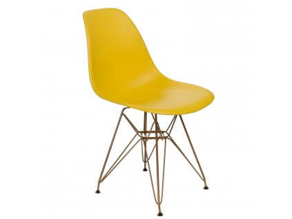 Židle P016 PP Gold žlutá
