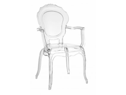 Židle Queen Arm transparentní