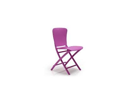 Židle skládací Zac fialová