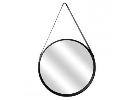 Zrcadlo Rouno kulaté 50cm černé
