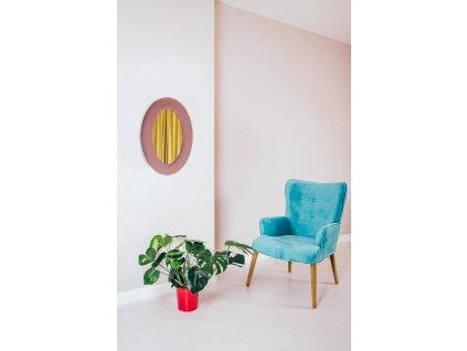 Zrcadlo Velvet Intesi růžové
