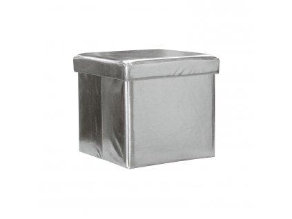 Sedací úložný box stříbrný