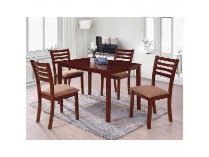 Stůl + 4 židle BARCELONA lak třešeň