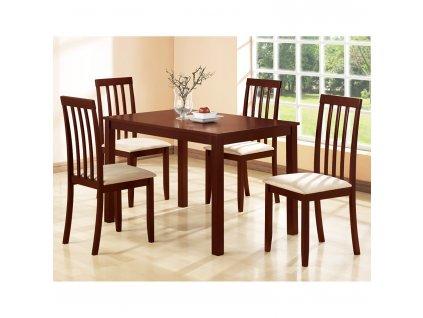 Stůl + 4 židle MALAGA lak třešeň