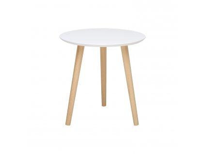 Odkládací stolek IMOLA 3 bílý/borovice