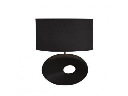 Keramická stolní lampa, černá, QENNY TYP 10