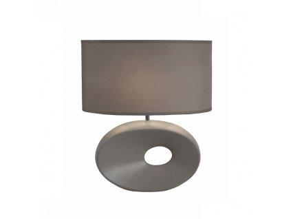 Keramická stolní lampa, sivá, QENNY TYP 11