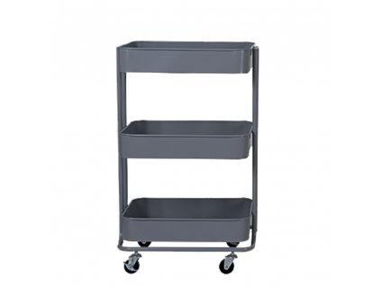 3-patrový vozík, tmavě šedá, RUDIN