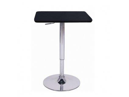 Barový stůl s nastavitelnou výškou, černá, 68-90, FLORIAN