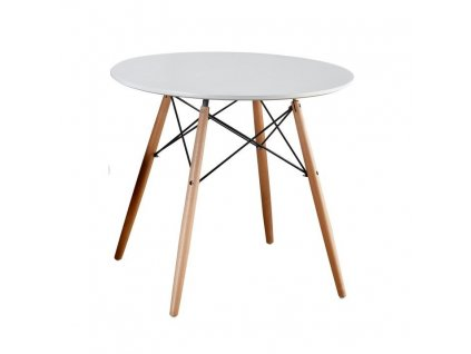 Jídelní stůl, bílá / buk, Gamin New 80