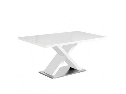 Jídelní stůl, bílá s vysokým leskem HG, FARNEL