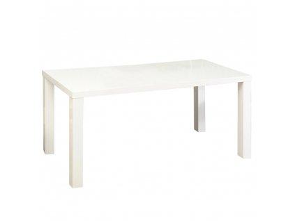 Jídelní stůl, bílá vysoký lesk HG, ASPER NEW TYP 2
