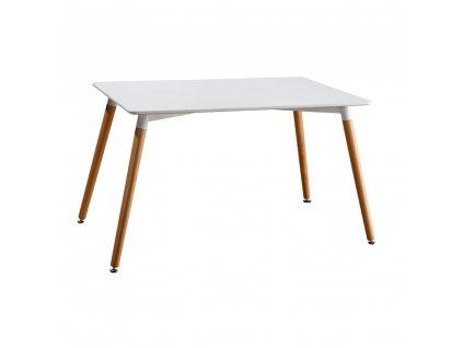 Jídelní stůl, bílá/buk, DIDIER 4 NEW