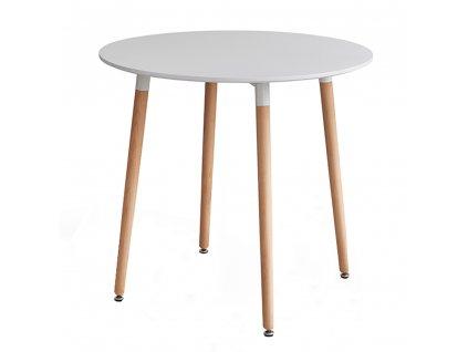 Jídelní stůl, bílá/buk, ELCAN