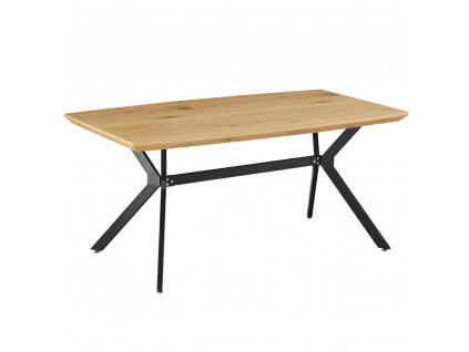 Jídelní stůl, dub / černá, MEDITER