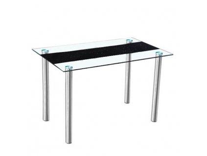 Jídelní stůl, ocel/sklo, ESTER