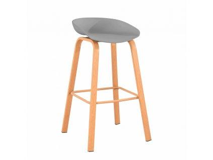 Barová židle, šedá/přírodní, BRAGA