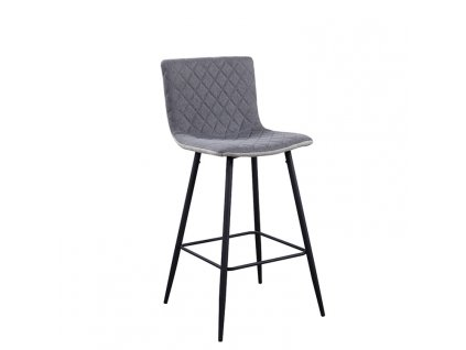 Barová židle, světlešedá/sivá /černá, TORANA