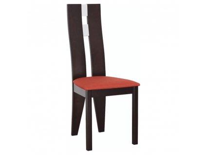 Dřevěná stolička, wenge / terakota, BONA
