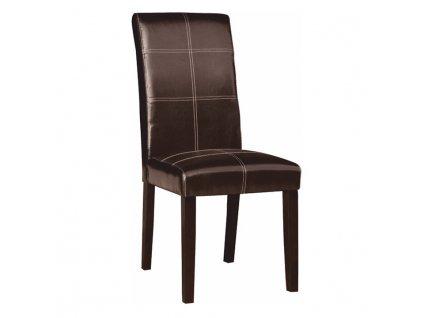 Jídelní židle, tmavohnědá / tmavý ořech, RORY 3 NEW