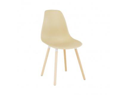 Židle, capuccino plast / buk, KALISA