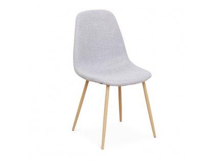 Židle, světlešedá látka / buk, LEGA