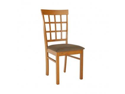 Židle, třešeň / béžová, GRID NEW