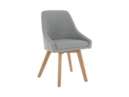 Jídelní židle, šedá/buk, TEZA