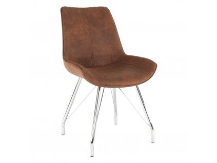 Židle, hnědá / chrom, MADORA