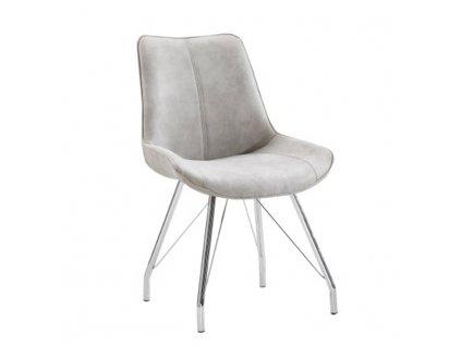 Židle, šedá / chrom, MADORA