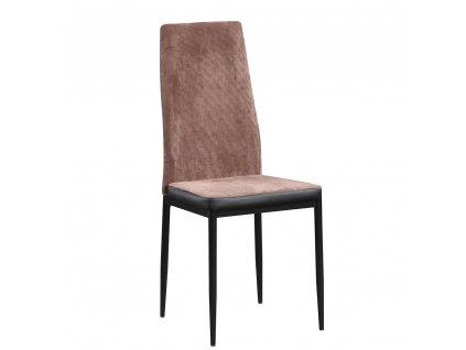 ídelní židle, tmavohnědá/černá, ENRA