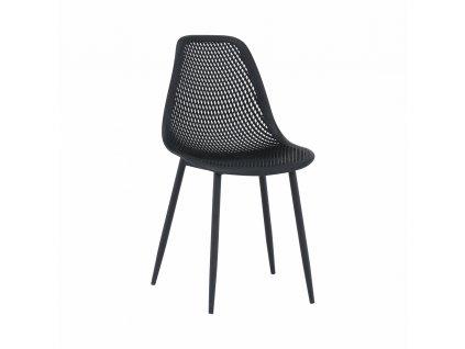 Jídelní židle, černá TEGRA