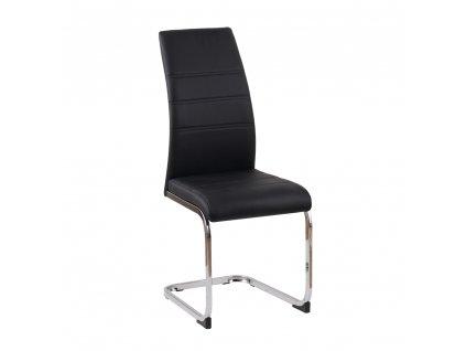 Jídelní židle, černá/chrom, VATENA